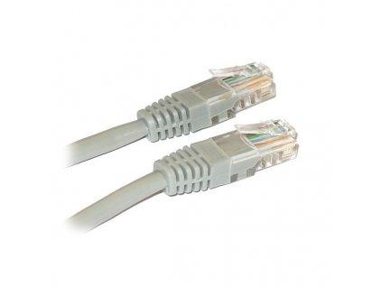XtendLan Patch kabel Cat 5e UTP 0,25m - šedý