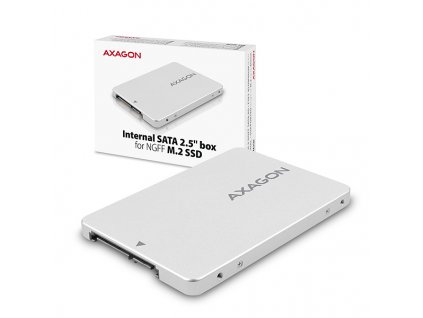 AXAGON RSS-M2SD, SATA - M.2 SATA SSD, interní 2.5'' ALU box