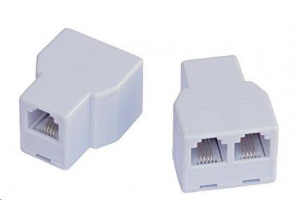 Dvojspojka RJ11, 1x6p4c/2x6p4c - telefonní