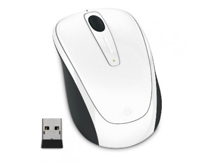 Microsoft Wireless Mobile Mouse 3500, White Gloss
