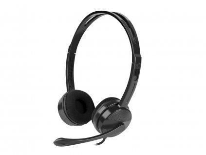 NATEC sluchátka s mikrofonem CANARY, černé