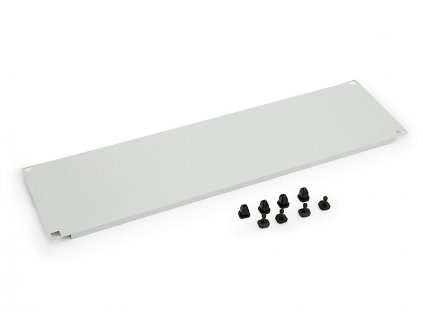 19'' záslepka 1U plastový zámek RAL9005 černá