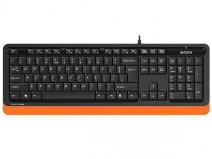 A4tech FK10 FSTYLER , klávesnice, CZ/US, USB, voděodolná, oranžová barva