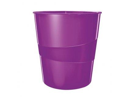 Odpadkový koš Leitz WOW, purpurová
