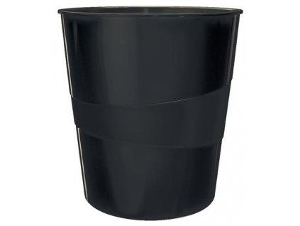 Odpadkový koš Leitz WOW, černá