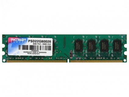 PATRIOT 2GB DDR2 800MHz / DIMM / CL6 / SL PC2-6400