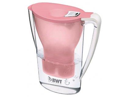 BWT filtrační konvice Penguin Pink, elektrinický indikátor + 1 filtr