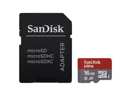 SanDisk microSDHC 16GB Ultra Android (+SD Adapter, 98 MB/s, A1,Class10)