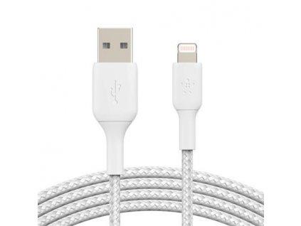 Belkin Lightning kabel, 2m, bílý - odolný