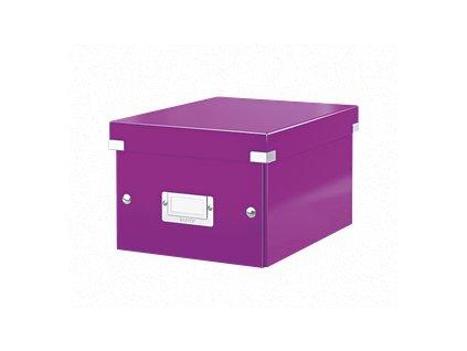 Univerzální krabice Leitz Click&Store, velikost S (A5), purpurová