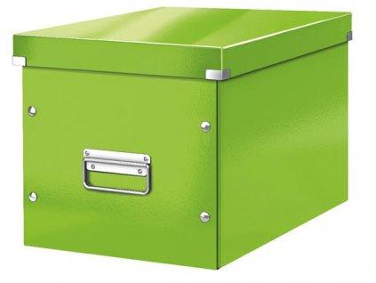 Čtvercová krabice Leitz Click&Store, velikost L (A4), zelená