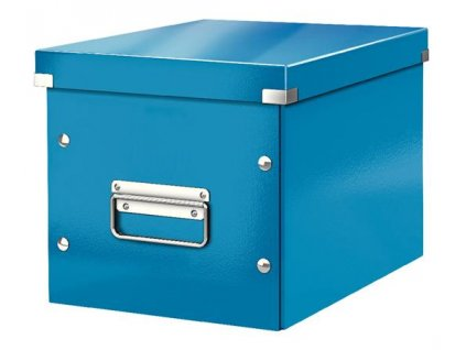 Čtvercová krabice Leitz Click&Store, velikost M (A5), modrá