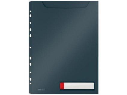 Desky velkokapacitní Leitz Cosy A4, neprůhledný PP, 3 ks, sametová šedá