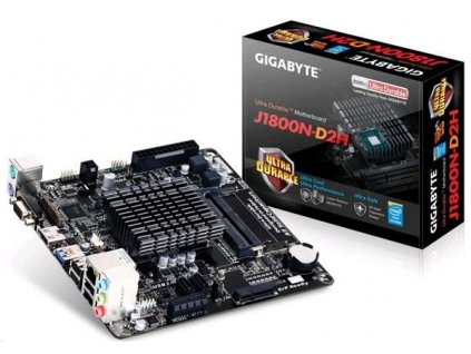 GIGABYTE MB J1800N-D2H, Dual-core Celeron® J1800 SoC (2.41 GHz), Intel NM10, 2xDDR3, VGA, Mini-ITX