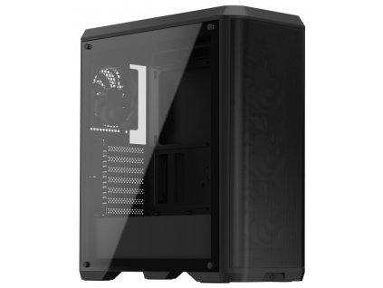 SilentiumPC skříň MidT Ventum VT4V TG / ATX / 4x120mm fan / 2xUSB 3.0 / tvrzené sklo / černá