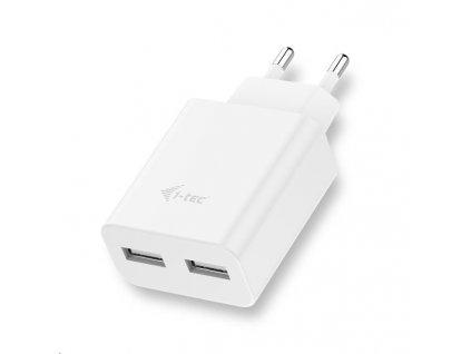 iTec USB Power Charger 2 Port 2.4A - USB nabíječka - bílá