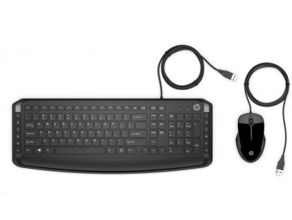 HP Wired Keyboard & Mouse 250 CZ/SK - KLÁVESNICE a MYŠ