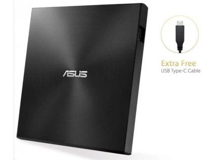 ASUS DVD ZenDrive SDRW-08U9M-U BLACK, External Slim DVD-RW, USB Type-C/Type-A, M-DISC