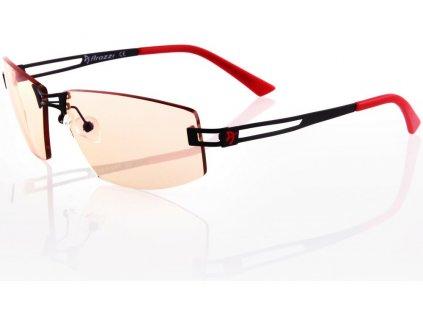 AROZZI herní brýle VISIONE VX-600 Red/ černočervené obroučky/ jantarová skla