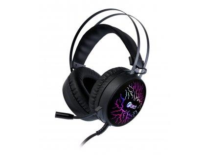 Herní sluchátka C-TECH Astro (GHS-16), casual gaming, LED, 7 barev podsvícení
