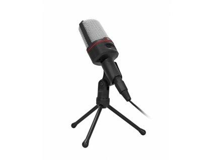 Stolní mikrofon C-TECH MIC-02, 3,5'' stereo jack, 2.5m