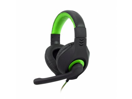 Herní sluchátka C-TECH Nemesis V2 (GHS-14G), černo-zelená