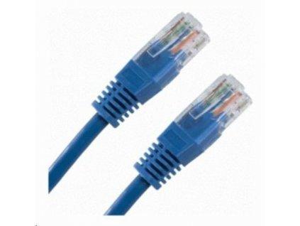 Patch kabel Cat6, UTP - 1m, modrý