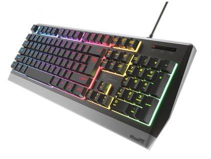Genesis herní klávesnice RHOD 300 CZ/SK layout, 7-zónové RGB podsvícení