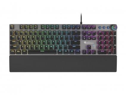 Genesis mechanická klávesnice THOR 400, US layout, RGB podsvícení, software, Kailh Red