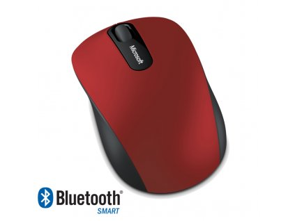 Microsoft Bluetooth 4.0 Mobile Mouse 3600, tmavě červená