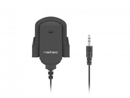 Mikrofon Natec Fox, prílepný držák, 3,5mm jack, 1,8m