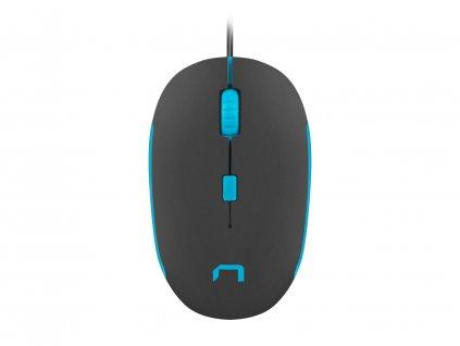 Optická myš Natec Sparrow 1200 DPI, černo-modrá