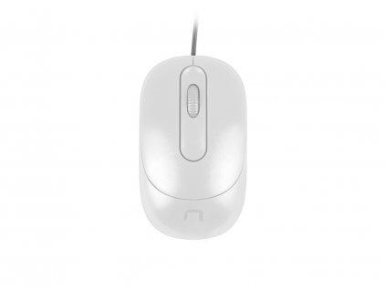 NATEC optická myš VIREO 1000 DPI, bílá