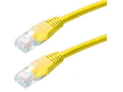 Patch kabel Cat5E, UTP - 1m, žlutý