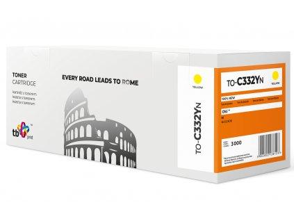 Toner TB kompatibilní s OKI C332 TO-C332YN YE