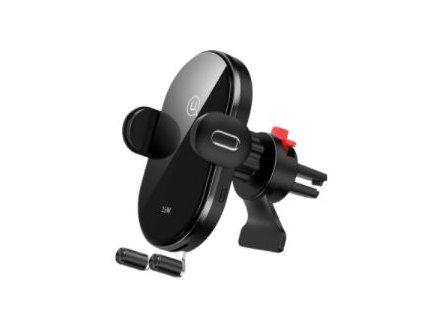 USAMS CD131 Automatic Coil Držák do Auta vč. Bezdrátového Dobíjení 15W Black