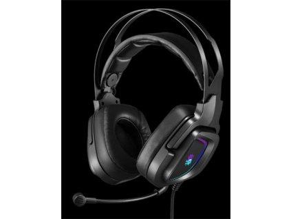 A4tech Bloody G570 herní sluchátka s mikrofonem, 7.1 Virtual, RGB podsvícení, USB
