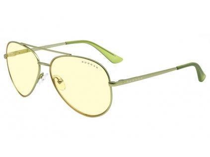 GUNNAR herní brýle MAVERICK / obroučky v barvě MINT / jantarová skla