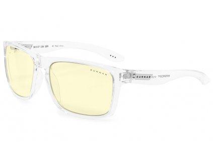 GUNNAR herní brýle INTERCEPT CRYSTAL/ průhledné obroučky / jantarová skla