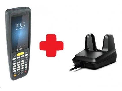 Zebra MC2200, 2D, SE4100, 3/32GB, BT, Wi-Fi, Func. Num., Android + cradle