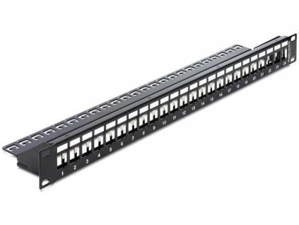 "Delock 19"" Keystone Patch Panel 24 Port black"