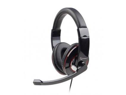 Sluchátka s mik Gembird MHS-U-001 Gaming black, USB