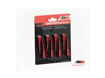 AIREN RedVibes Screw (8pcs Red color pack)