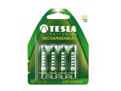 TESLA RECHARGEABLE+ nabíjecí baterie AA Ni-MH 2450mAh (HR06, tužková, blister) 4 ks (OLD design)
