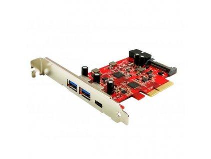 KOUWELL UB-158 / řadič pro 2x USB 3.1 Gen 2 Type-A (5V2A) a 1x USB 3.1 Gen 2 Type-C (5V3A) / PCIe /