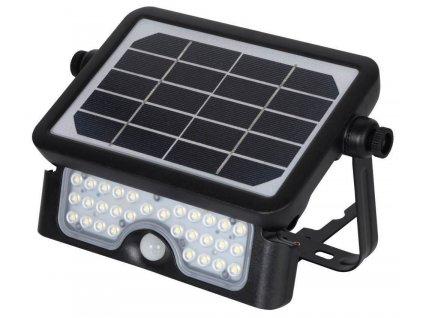 IMMAX venkovní solární LED osvětlení CROAKER s čidlem/ 5W/ 500lm/ IP65/ 217,4x149,3x33,7mm/ černé