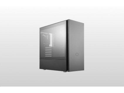 Cooler Master case Silencio S600 Tempered Glass, ATX, Mid Tower, černá, bez zdroje