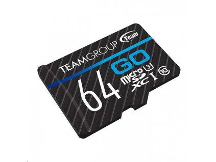 TEAM MicroSDXC karta 64GB GO CARD UHS-I U3 + SD adapter