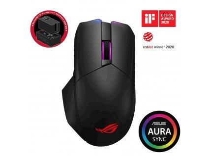 ASUS myš ROG CHAKRAM (P704), bezdrátová, černá