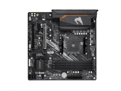 GIGABYTE MB Sc AM4 B550M AORUS ELITE, AMD B550, 4xDDR4, 1xHDMI, 1xDVI, mATX